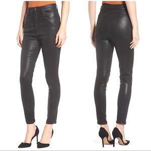 Agolde Leatherette Black Skinny Jeans - 30